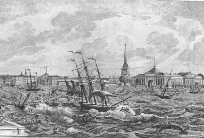 313 лет произошло первое масштабное наводнение в Санкт-Петербурге