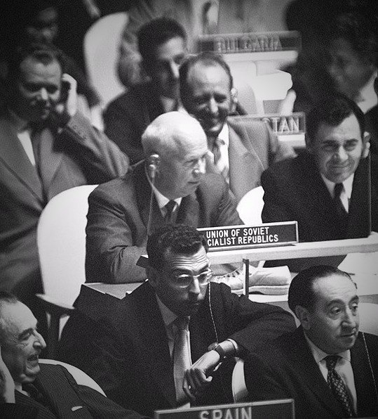 Хрущев на 15 сессии Генеральной Ассамблеи ООН