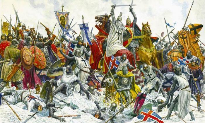12 апреля 1242 года войско Александра Невского одержало победу над немецкими рыцарями на Чудском озере