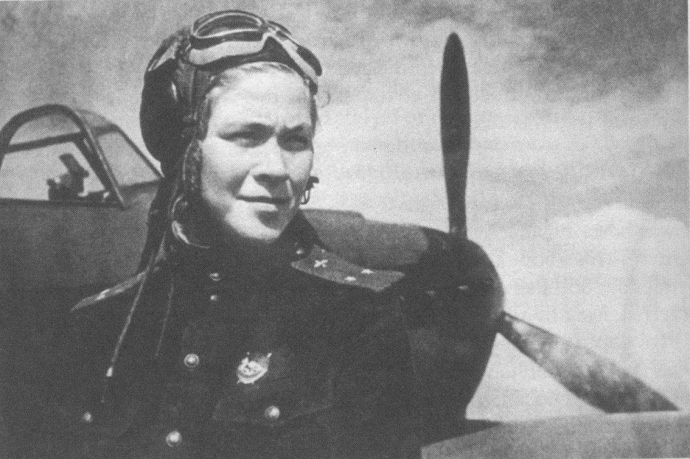 Знаменитая лётчица Литвяк Лидия Владимировна