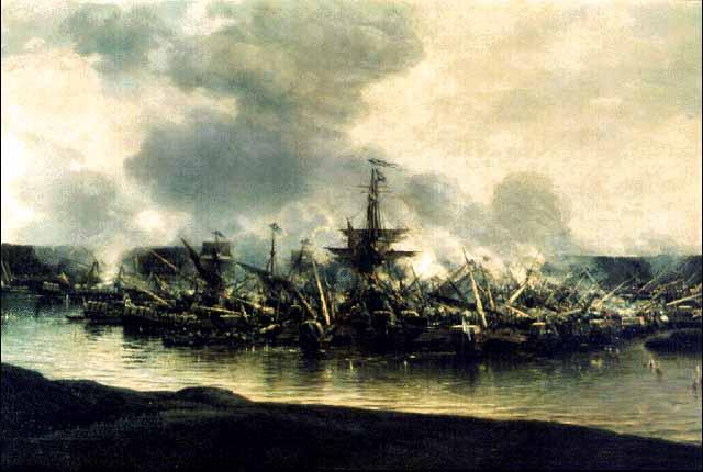 Первая в истории крупная победа над шведами у мыса Гангут в ходе Северной войны