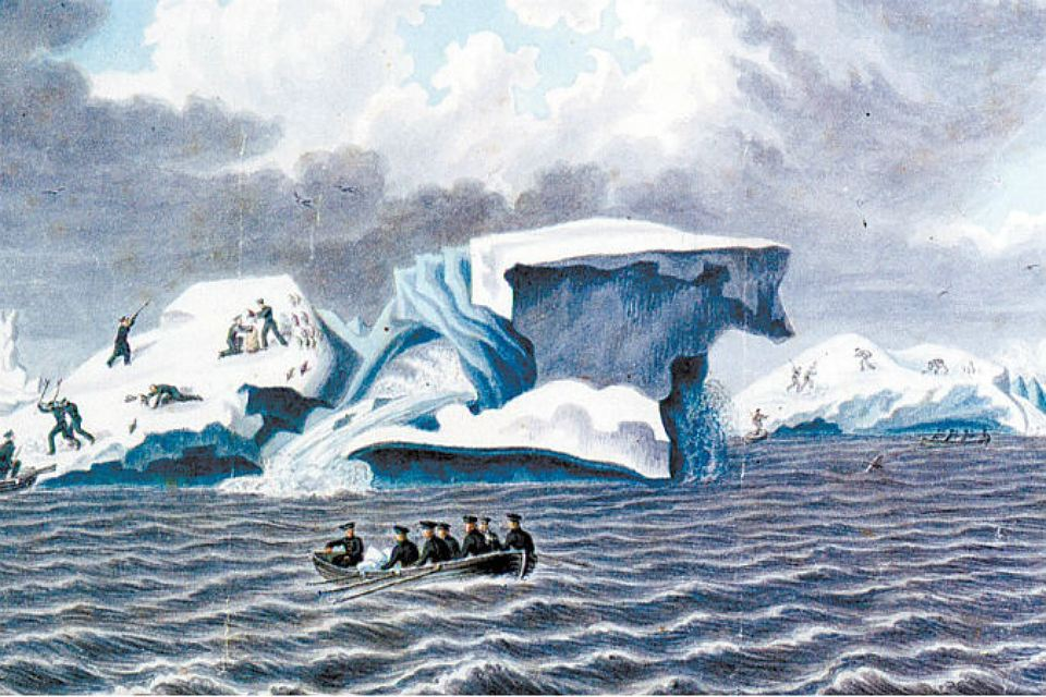 27 января 1820 г. Экспедиция Беллинсгаузена открывает Антарктиду